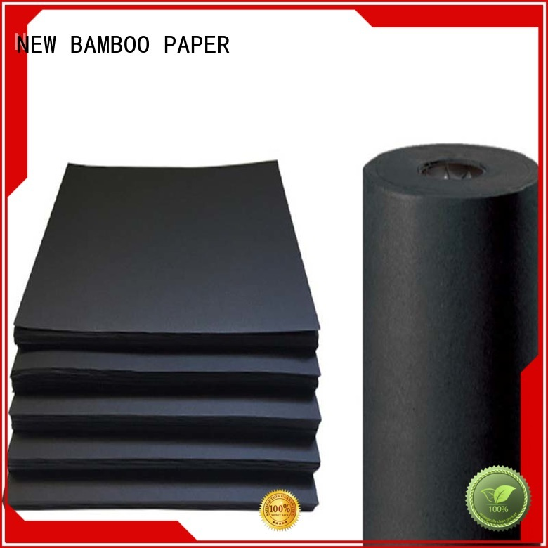 One side uncoated paperboard 110gsm black paper roll for Shopping bag