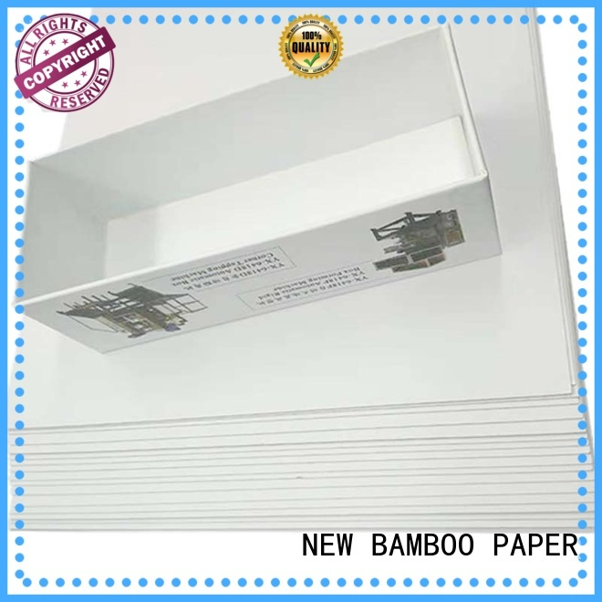 NEW BAMBOO PAPER packaging duplex paper board bulk production for toothpaste boxes