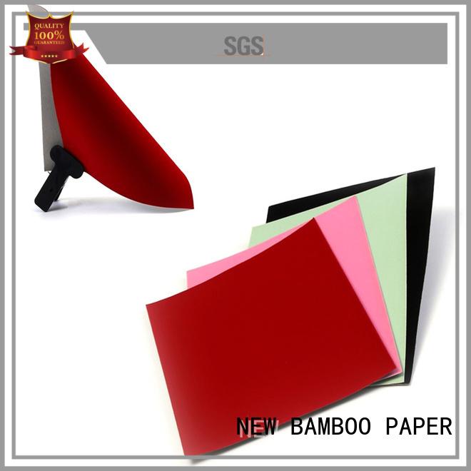 NEW BAMBOO PAPER pulp velvet flocked paper for gift box binding