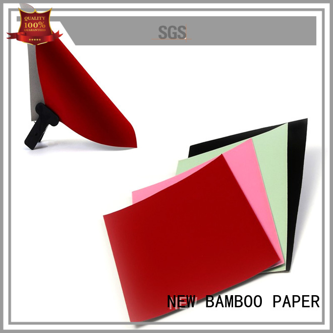 NEW BAMBOO PAPER pulp velvet flocked paper for gift box binding