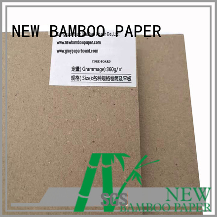 NEW BAMBOO PAPER degradable grey cardboard sheets factory price for desk calendars