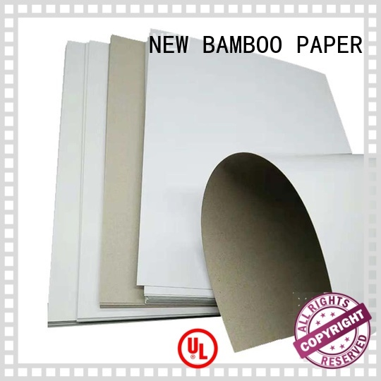 NEW BAMBOO PAPER packaging grey back duplex board order now for gift box binding