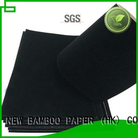 NEW BAMBOO PAPER flocked velvet flocked paper factory for decoration