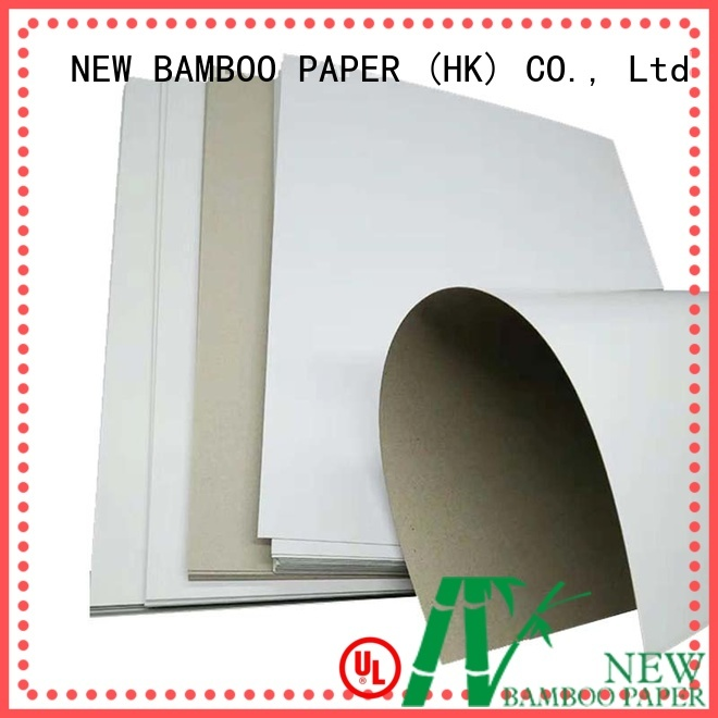 NEW BAMBOO PAPER excellent coated duplex board with grey back long-term-use for soap boxes