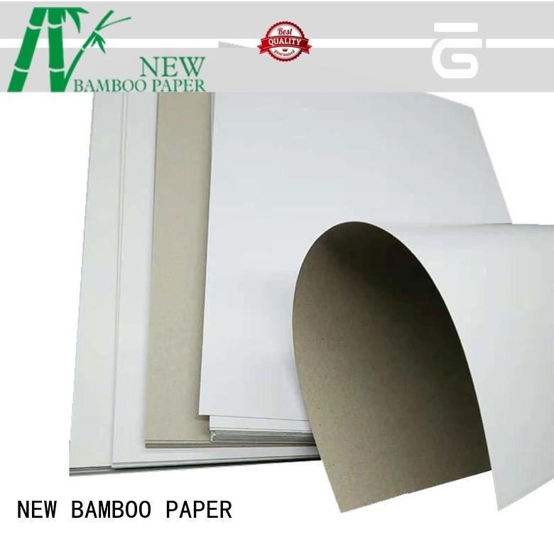 good-package white duplex board bulk production for cloth boxes NEW BAMBOO PAPER