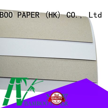 NEW BAMBOO PAPER back duplex board paper from manufacturer for box packaging