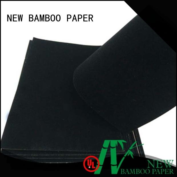 nice black flocking paper wholesale for stationery