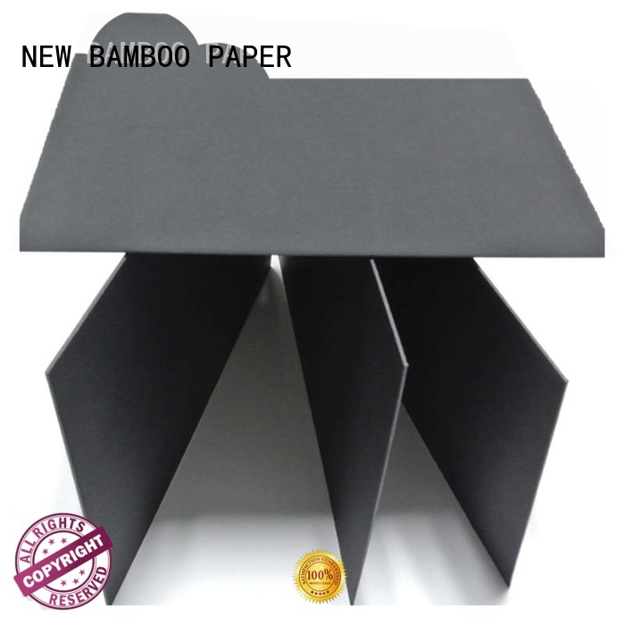 waste sturdy black board for wholesale for packaging NEW BAMBOO PAPER
