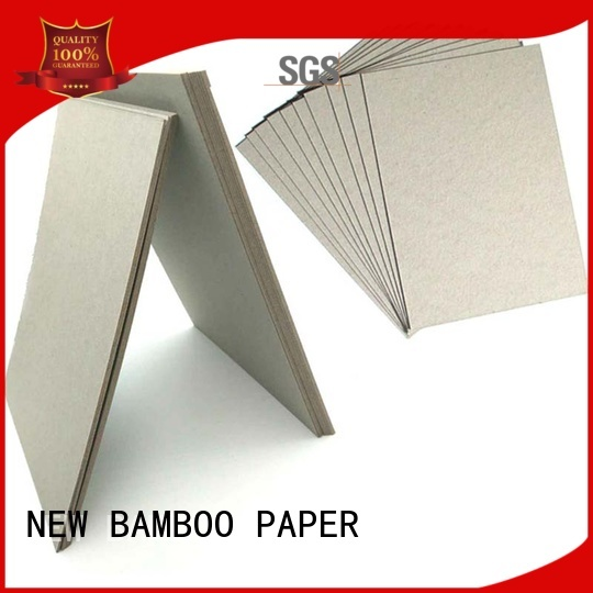NEW BAMBOO PAPER high-quality grey paperboard from manufacturer for boxes