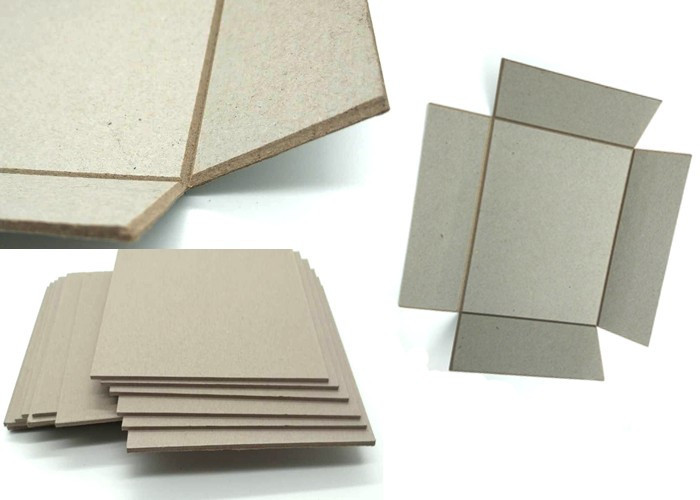Different gsm thick grey paperboard for slotting