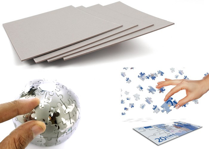 Hard stiffness laminated paper grey cardboard puzzle board material