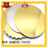 NEW BAMBOO PAPER grey gold cardboard from manufacturer for dessert packaging