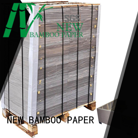 NEW BAMBOO PAPER uncoated gray chipboard from manufacturer for boxes