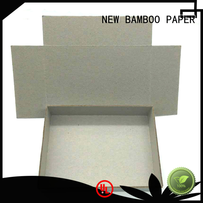 NEW BAMBOO PAPER good-package gray chipboard bulk production for stationery
