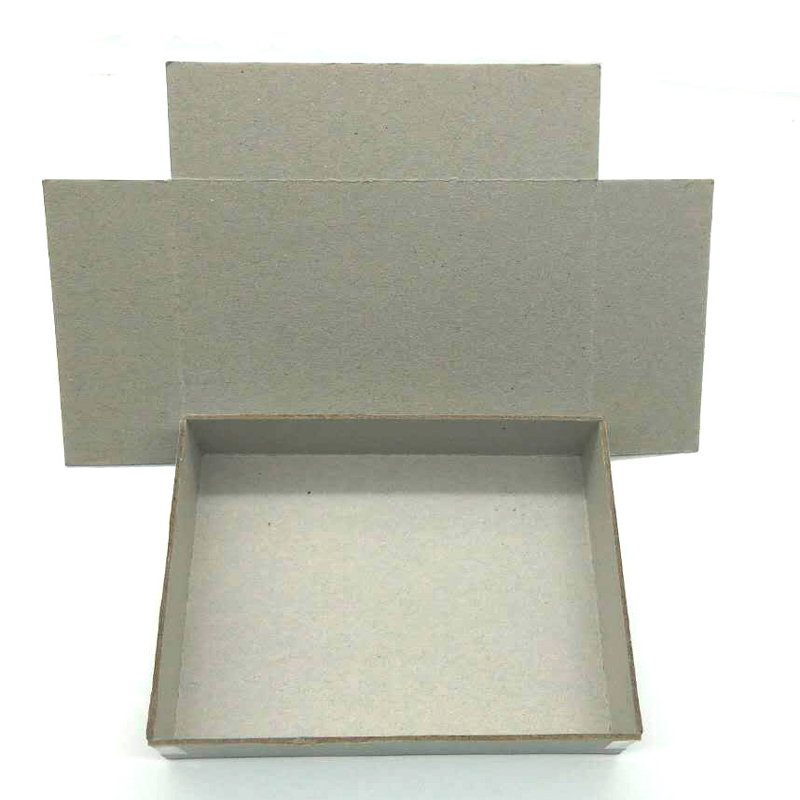 Thick grey cardboard sheets paper laminated grey board for V-type slotted