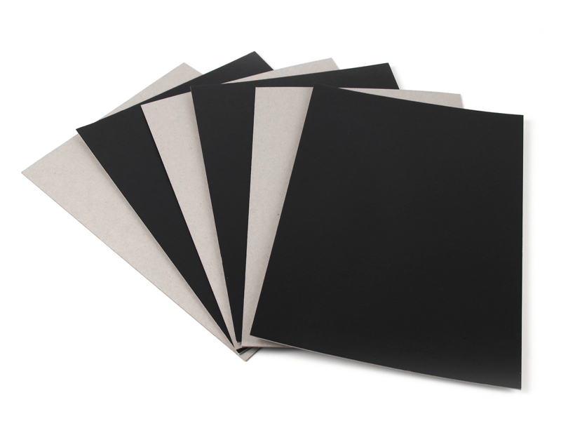safety black laminated chipboard black supplier for photo album-1