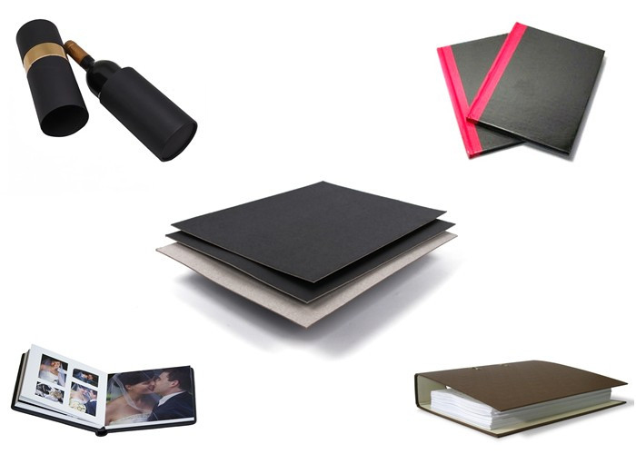 safety black laminated chipboard black supplier for photo album-3