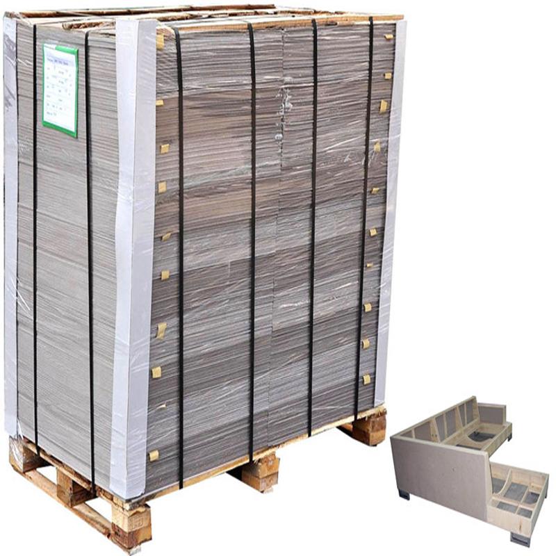 2.0mm-5.0mm thickness grey paper hardboard for making furniture liner