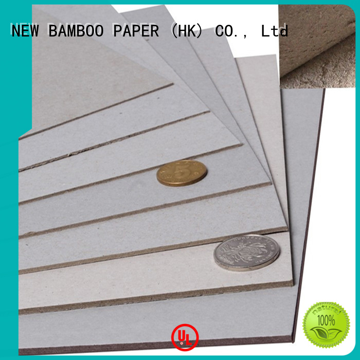 NEW BAMBOO PAPER material grey chipboard bulk production for shirt accessories