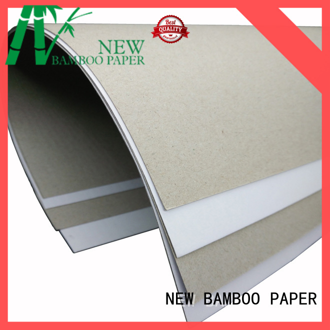 NEW BAMBOO PAPER coated duplex board with grey back bulk production for crafts
