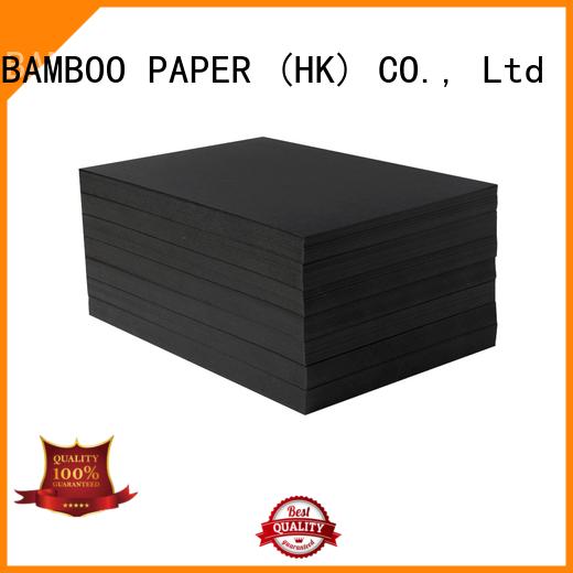 NEW BAMBOO PAPER nice black cardboard sheets bulk production for hang tag
