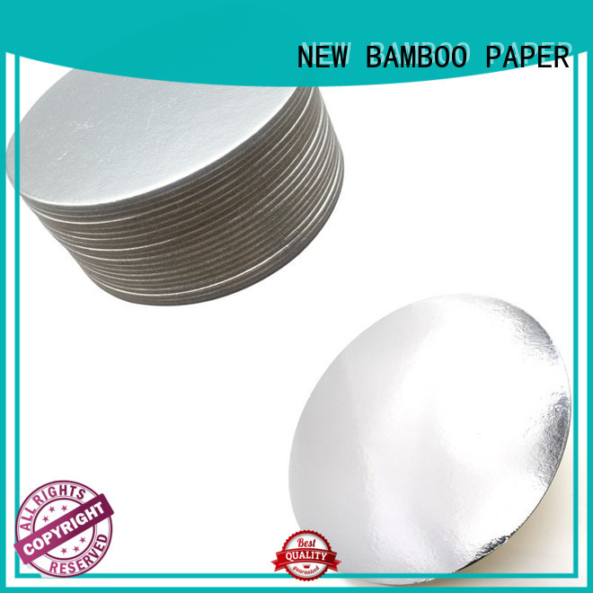 NEW BAMBOO PAPER sheets cake board rounds from manufacturer for cake board