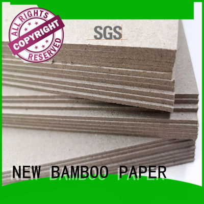 NEW BAMBOO PAPER high-quality gray chipboard free design for shirt accessories