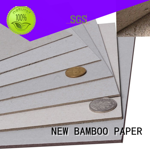 NEW BAMBOO PAPER useful grey chipboard for wholesale for packaging