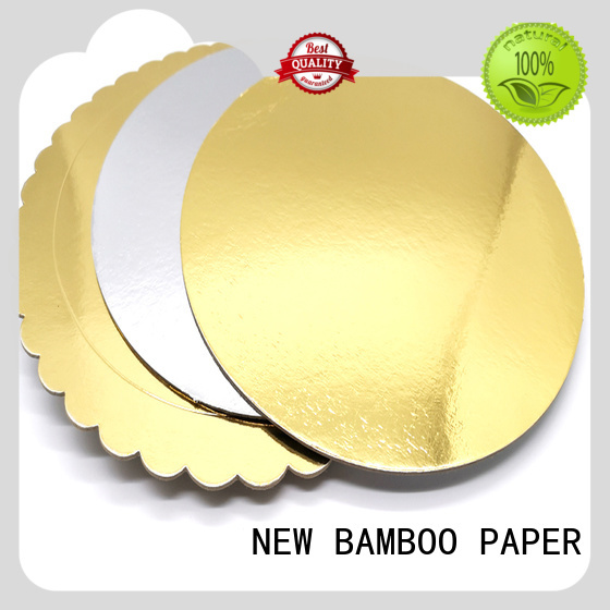 NEW BAMBOO PAPER foil cake boards gold at discount for gift boxes