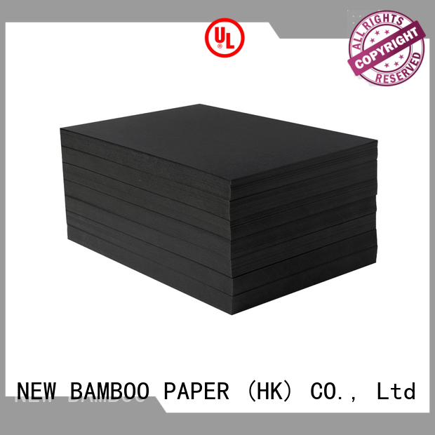 NEW BAMBOO PAPER new-arrival black cardboard paper free design for shopping bag
