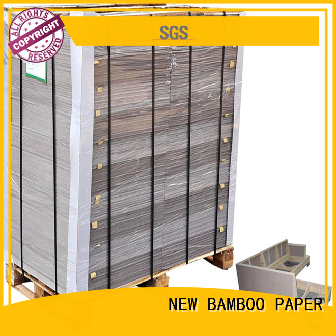 NEW BAMBOO PAPER solid laminated grey board bulk production for packaging