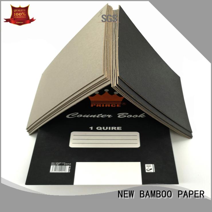 NEW BAMBOO PAPER laminated black cardboard sheets for booking binding