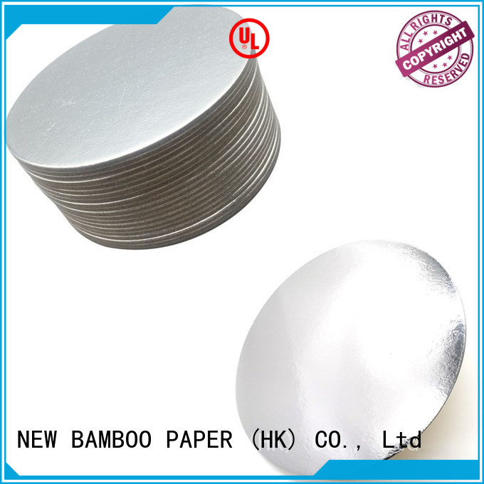 NEW BAMBOO PAPER inexpensive cake boards gold for paper bags