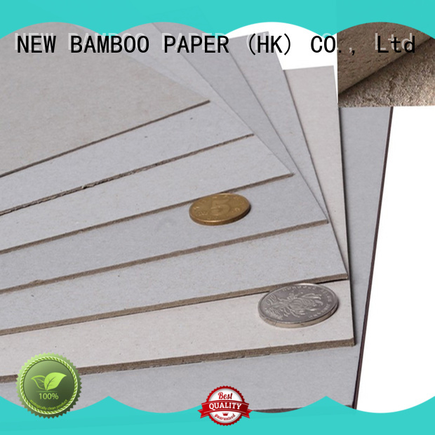 NEW BAMBOO PAPER single laminated grey board buy now for hardcover books