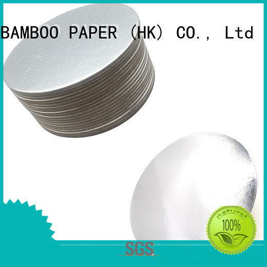 NEW BAMBOO PAPER fine- quality foil cake board for wholesale for bread packaging