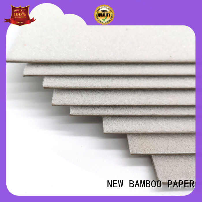 NEW BAMBOO PAPER solid foam core paper from manufacturer for shirt accessories