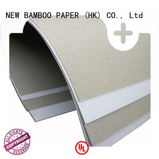 NEW BAMBOO PAPER industry-leading Grey board with white back bulk production for cereal boxes